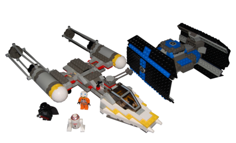ego tie fighter and y-wing